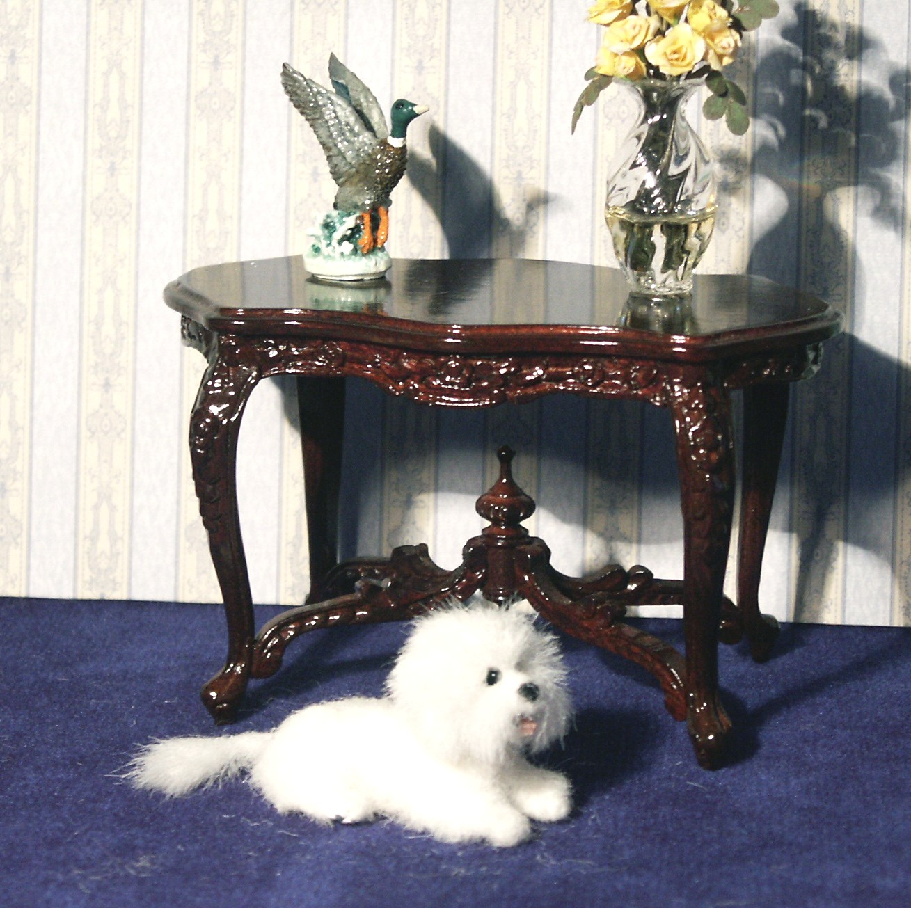 Dolls house Bichon Frise Dog