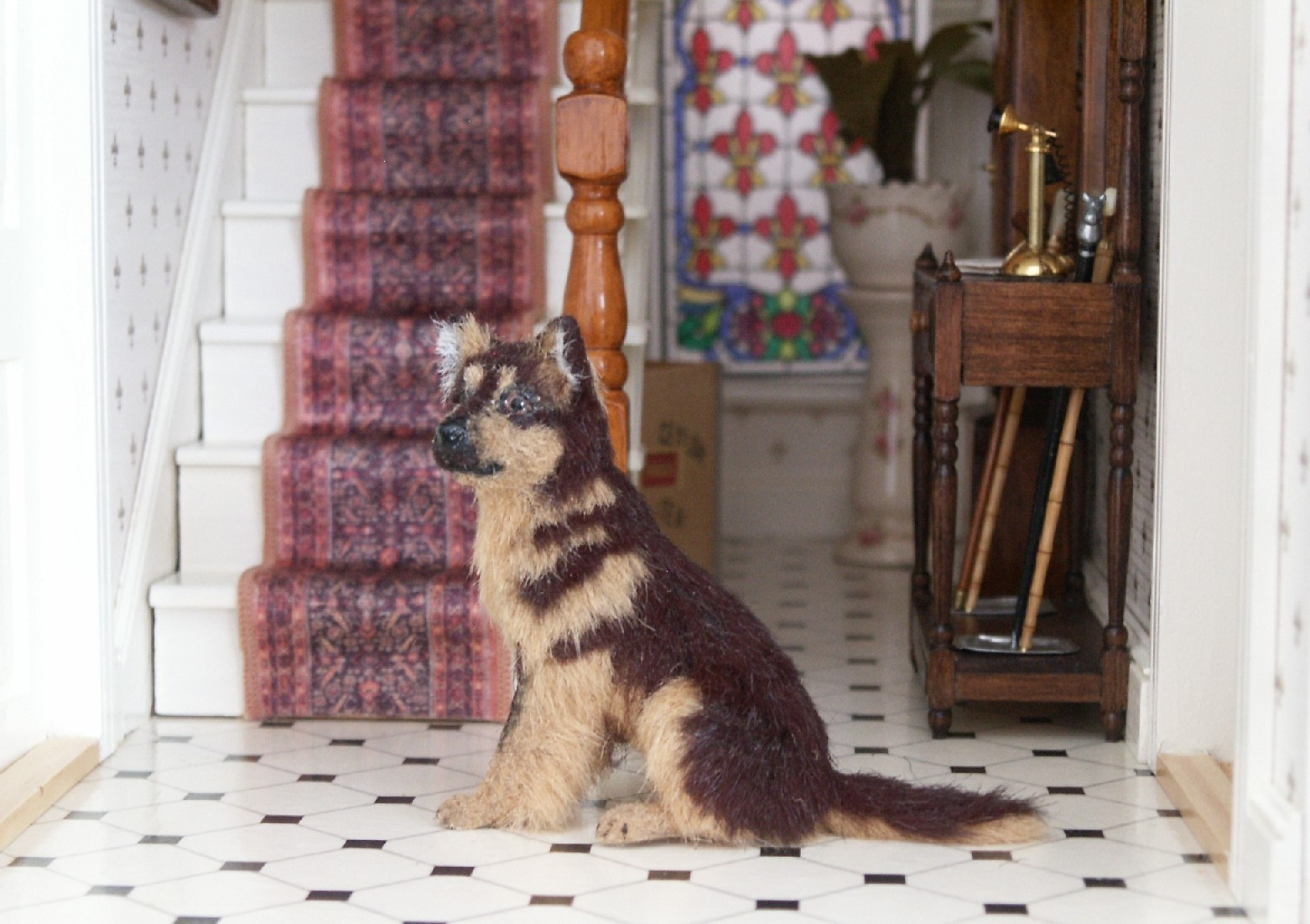 Alsatian for the dolls house