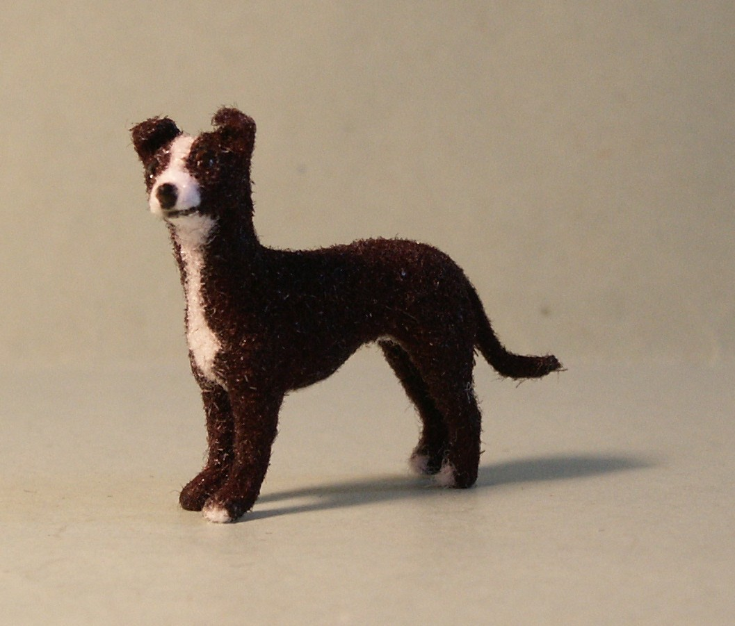 24th scale whippet for the dolls house