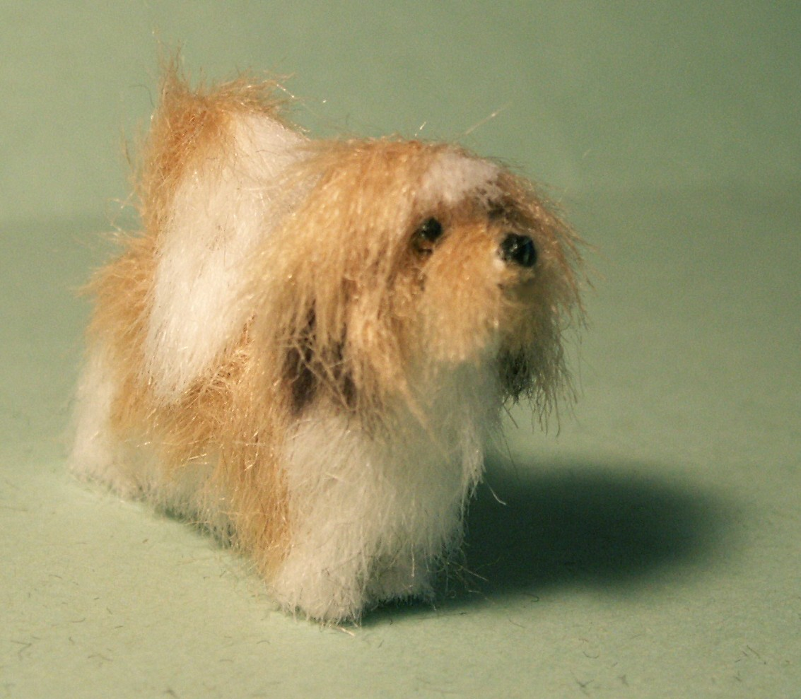 Lhasa Apso dog for the dolls house