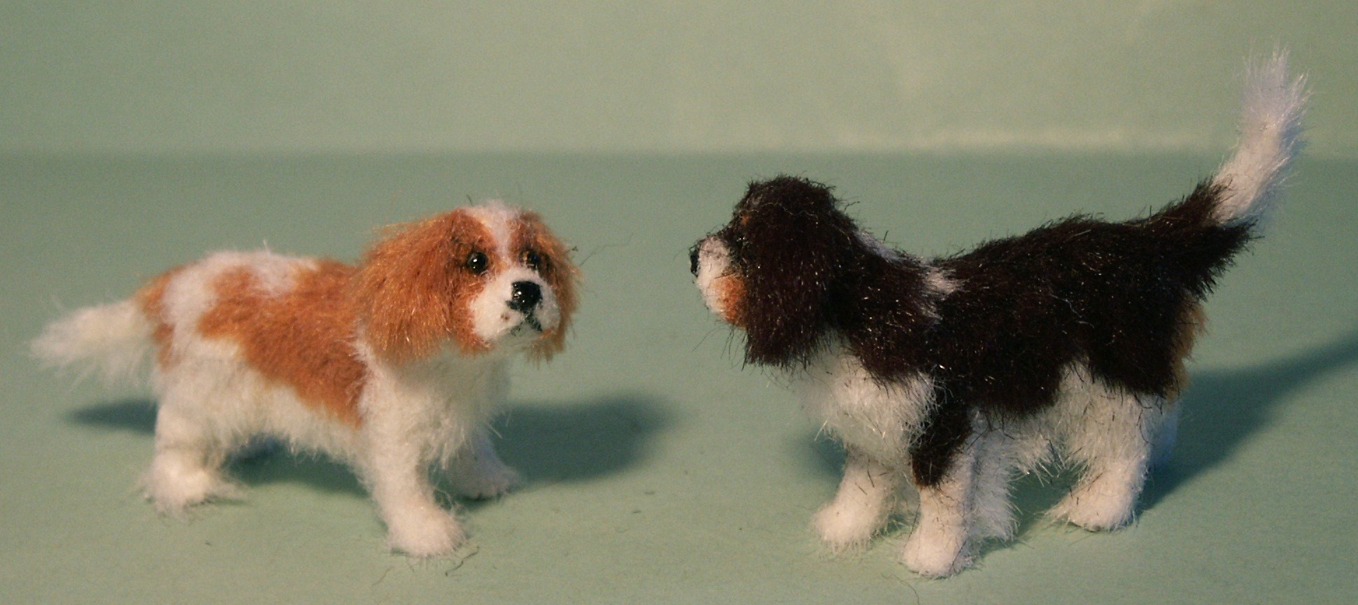 Cavalier King Charles Spaniels for the dolls house
