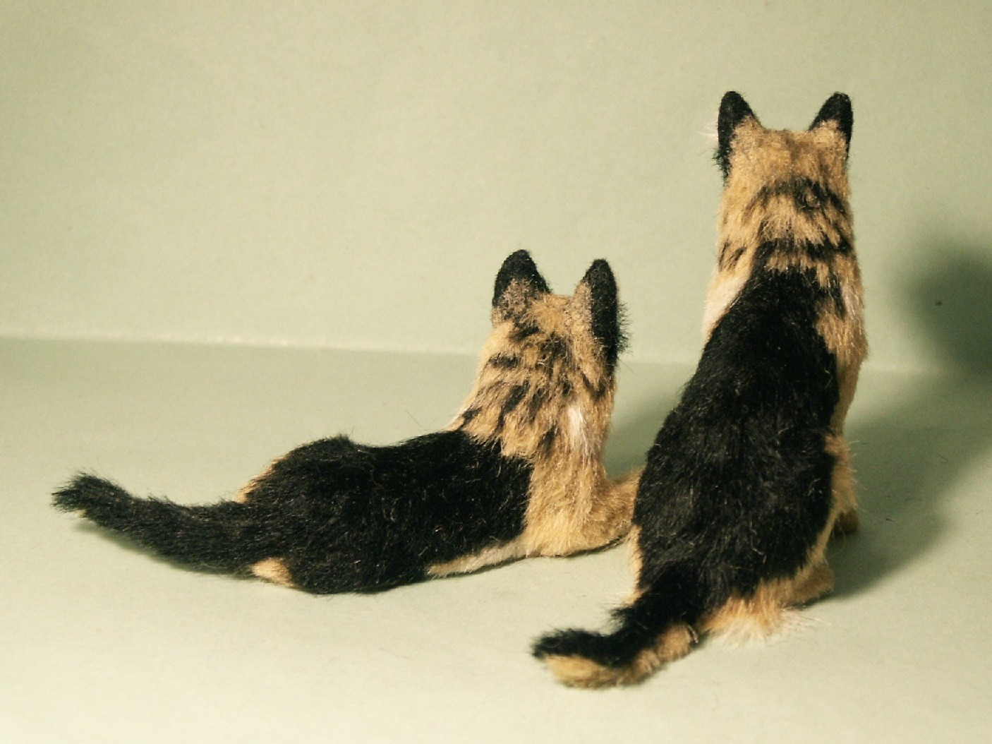 Alsatians for the dolls house