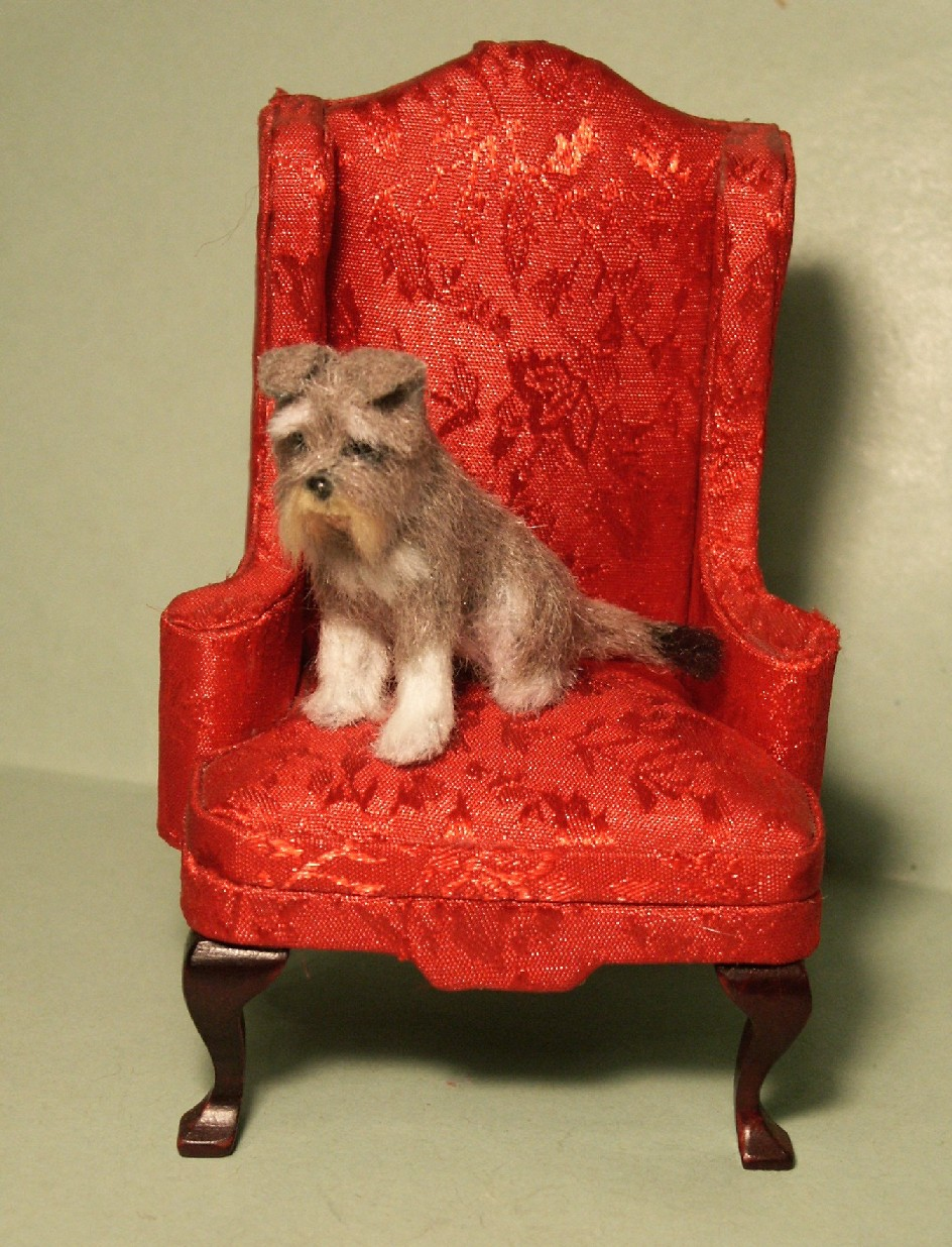 Miniature Schnauzer cross Cairn Terrier for the dolls house