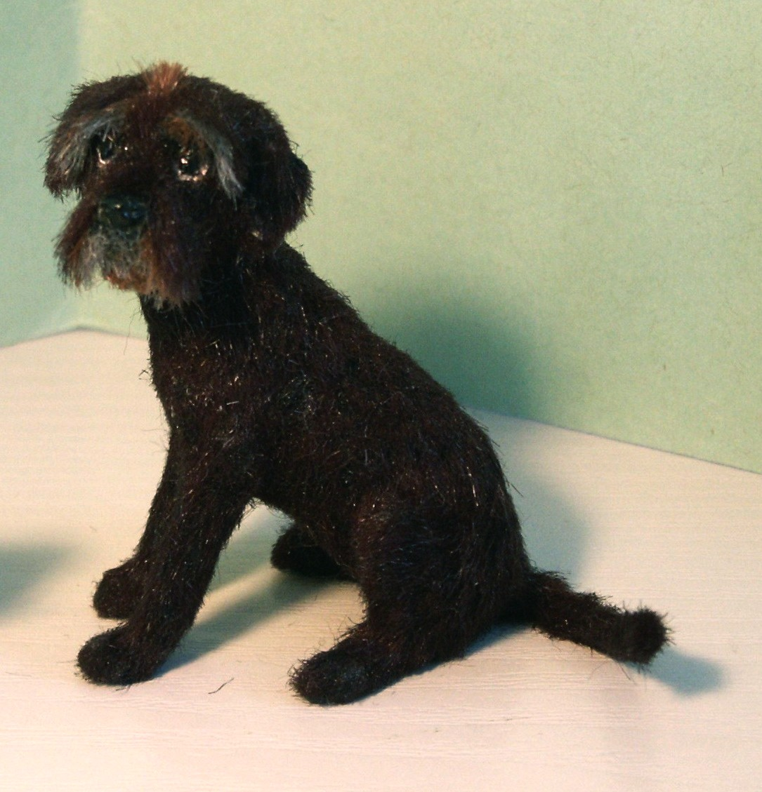 Labradoodle for the dolls house
