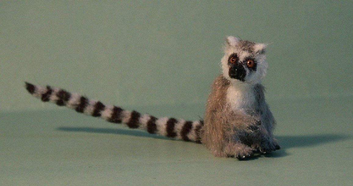 Ring tailed lemur for the dolls house