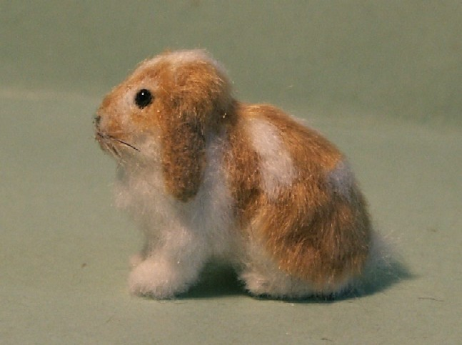 Dwarf lop rabbit for the dolls house