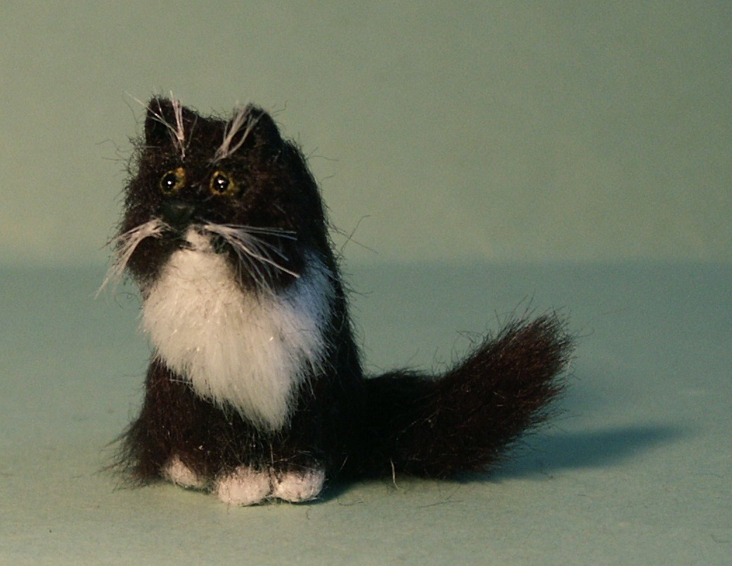 Dolls house fur cat