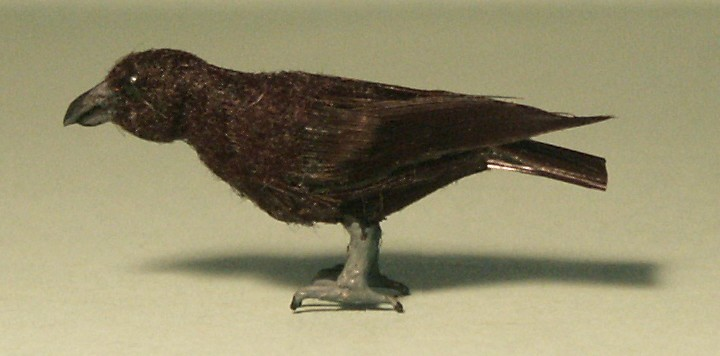Feathered Raven for the dolls house