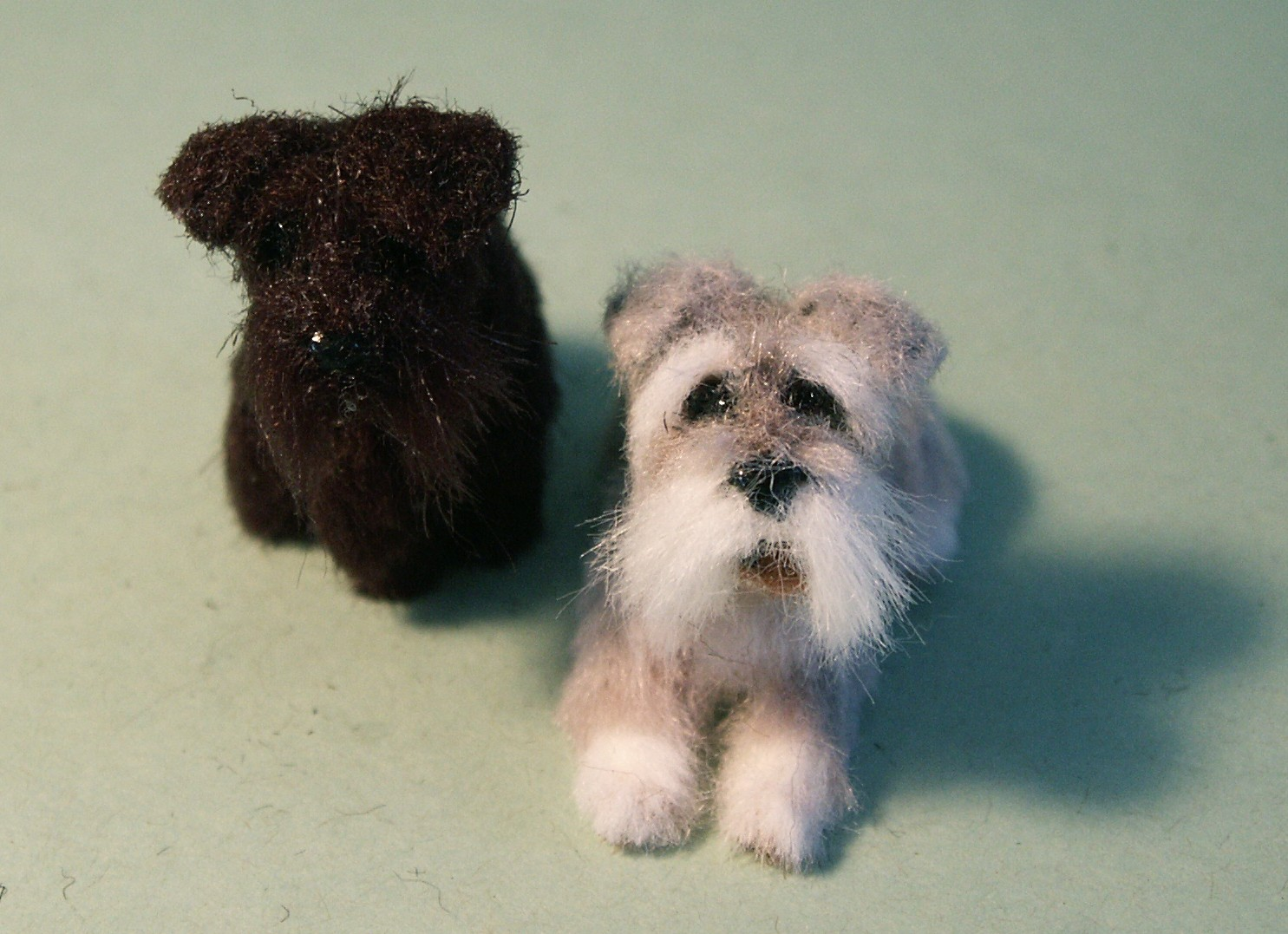 Miniature Schnauzers for the dolls house