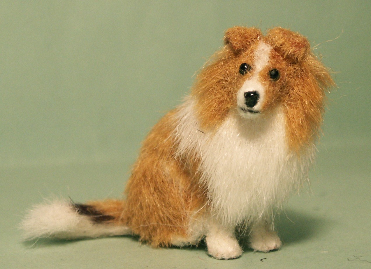 Shetland Sheepdog or Sheltie for the dolls house