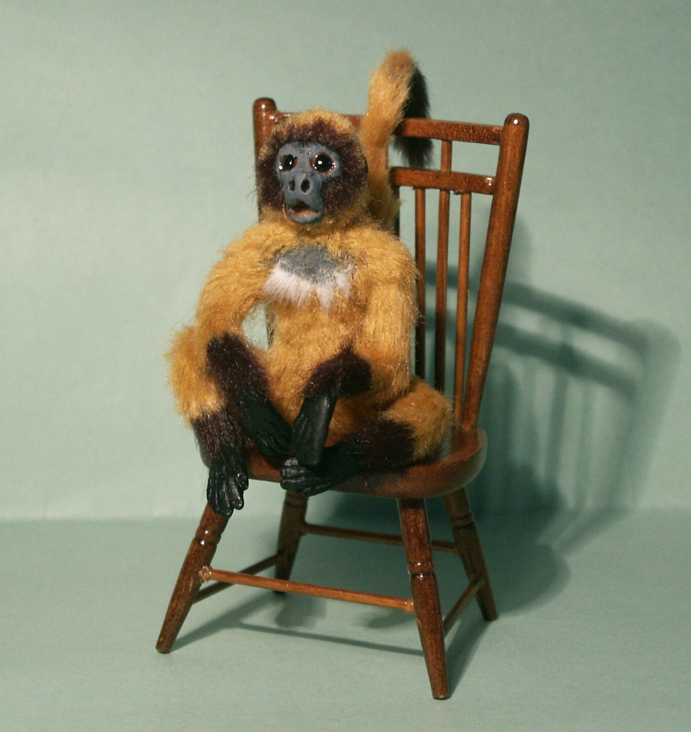 Golden spider monkey for the dolls house