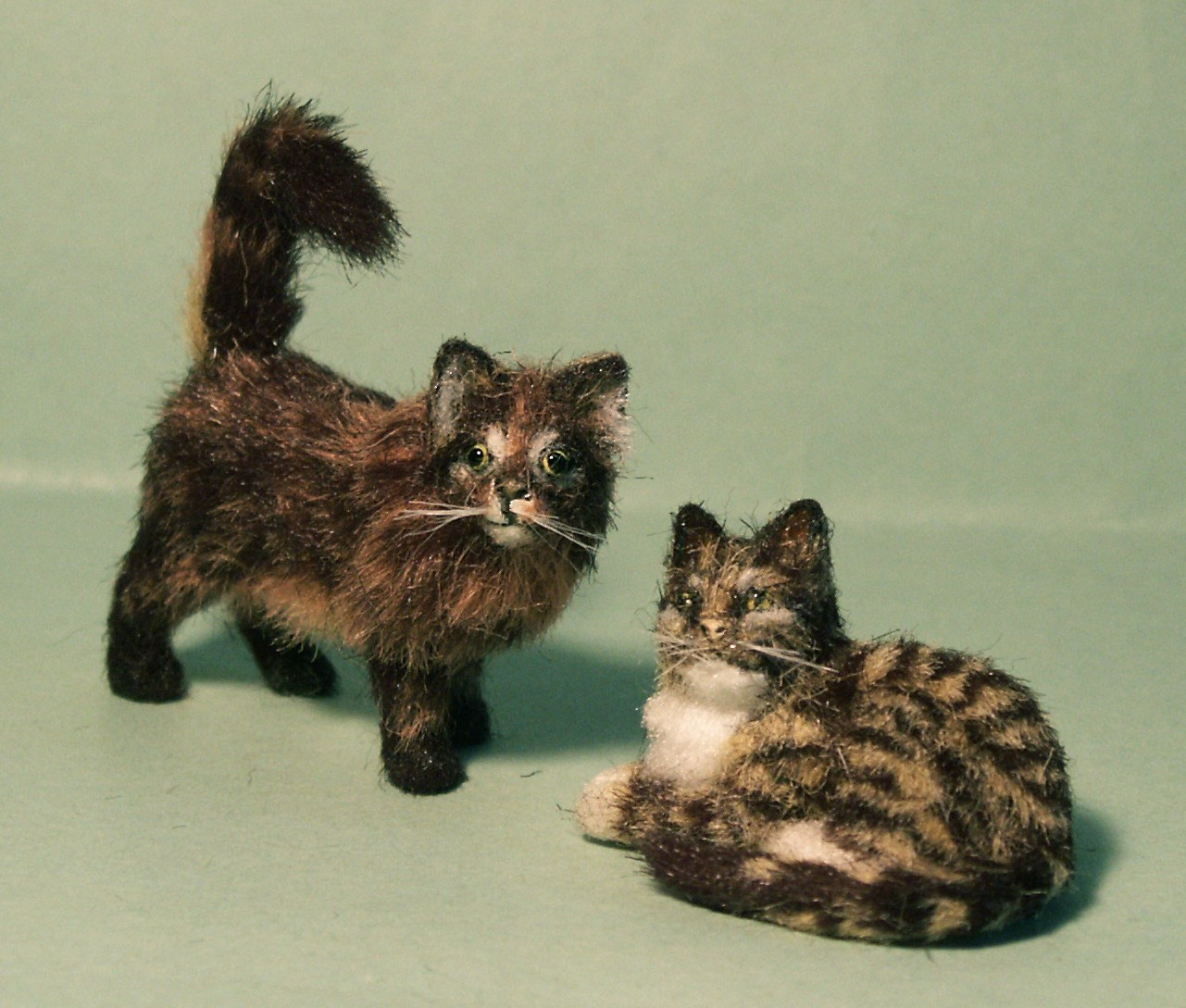 Dolls house fur cats