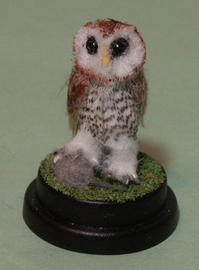 Dolls house miniature owl
